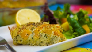 POTATO CRUSTED VEGAN QUICHE
