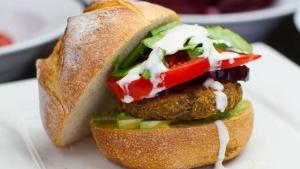 Hearty Mushroom Lentil Burger