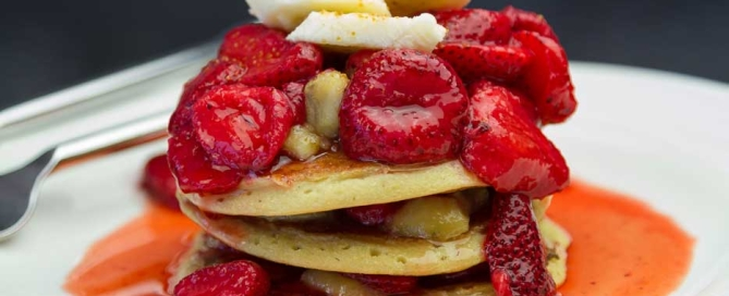 two ingredient vegan pancakes