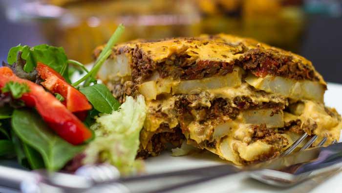 Lasagne Style Potato Bake