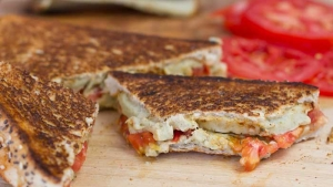 Vegan Grilled Cheese Tomato Sandwich