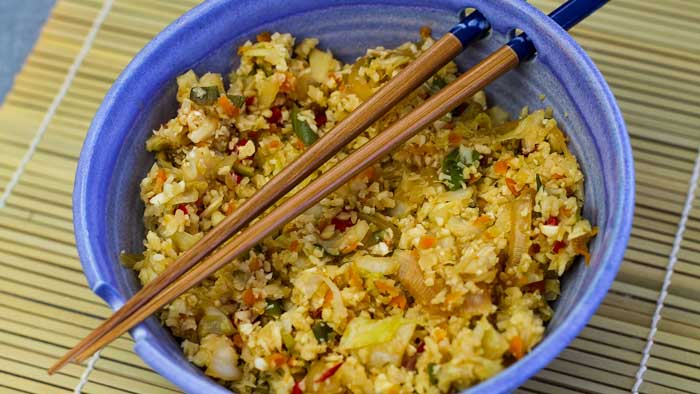 Stir Fried Asian Vegetable Cauliflower Rice