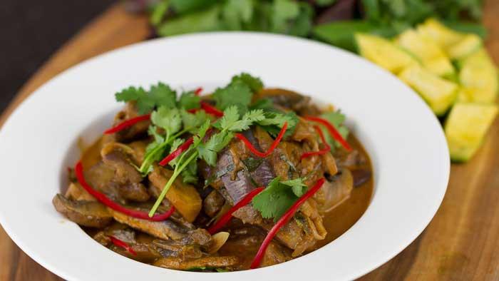 Thai Eggplant Mushroom Curry