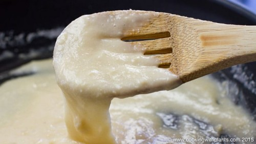 stretchy melted vegan cheese