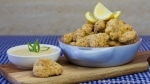 Schnitzel Style Cauliflower Nuggets with Dijon Cashew Sour Cream