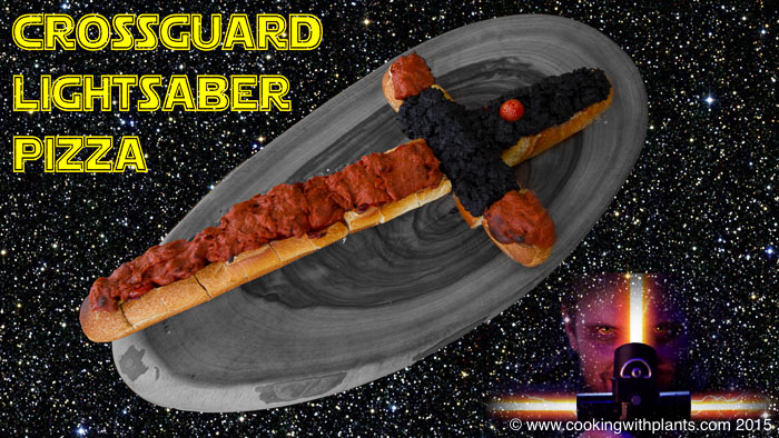 star wars crossguard lightsaber pull apart pizza