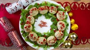 edible potato christmas wreath