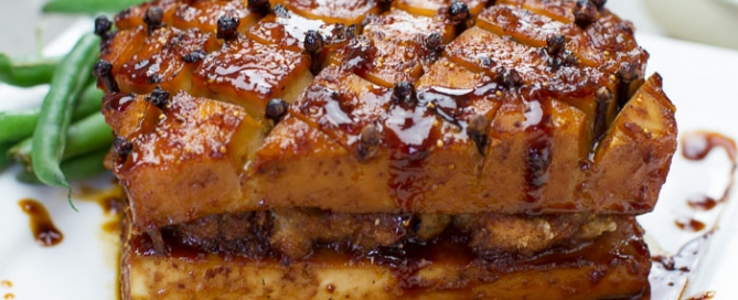 Maple Glazed Tofu Vegan Recipe