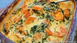 Vegan Cheesy Sweet Potato and Kale Bake