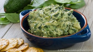 avocado spinach artichoke dip - vegan recipe
