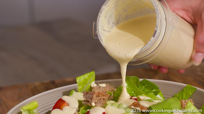 Dairy free Caesar Salad Dressing vegan recipe idea