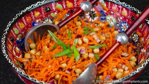 cajun chickpea carrot salad vegan recipes