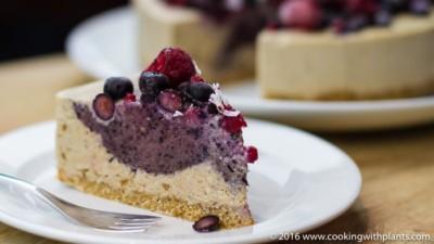 raw vegan recipe berry cheesecake
