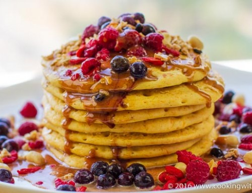 Gluten Free Pumpkin Pancakes with Peanut Maple Sauce – Sponsored by iHerb