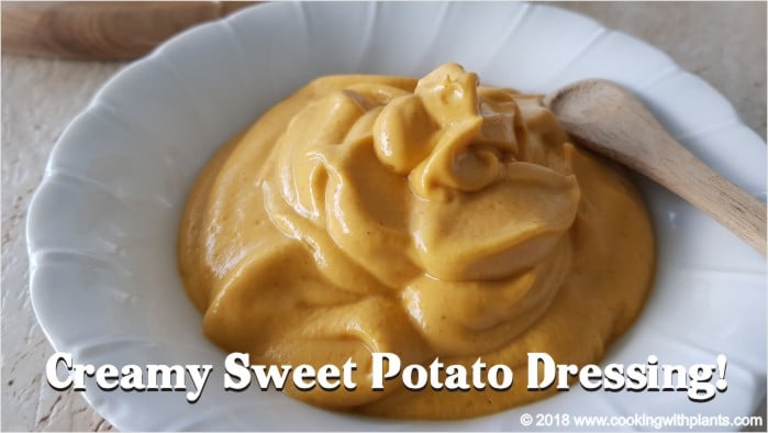 Vegan creamy sweet potato dressing