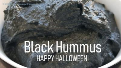 black hummus vegan halloween recipe