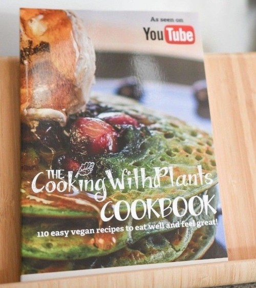 the cooking with plants vegan cookbook by anja cass