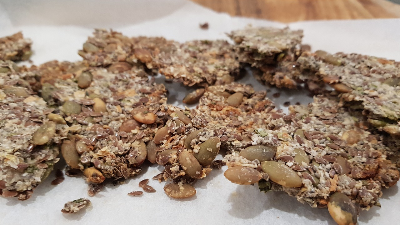 vegan flax seed crackers