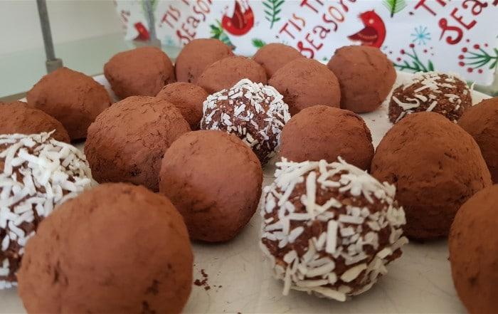 Vegan Chocolate Rum Balls