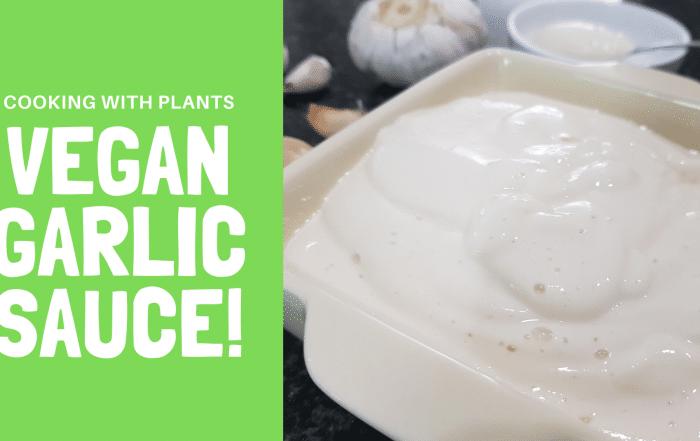 vegan garlic aioli sauce