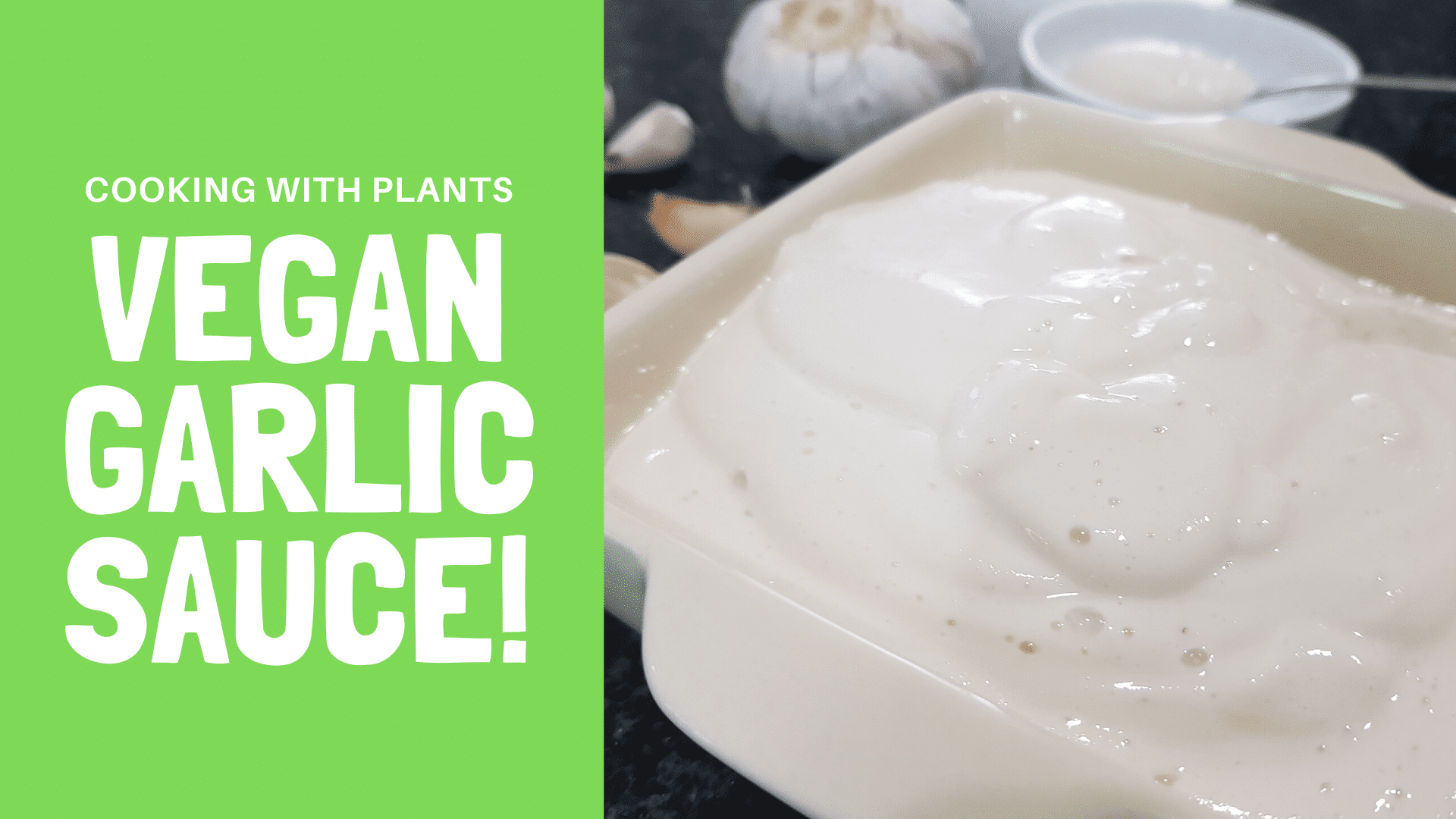 vegan garlic aioli sauce