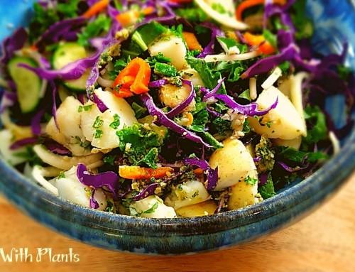 Vegan Pesto Potato Salad… Colors = Nutrients and Flavor!