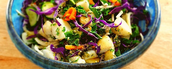 vegan pesto potato salad