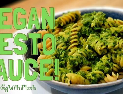 Nut Free Vegan Pesto Sauce!