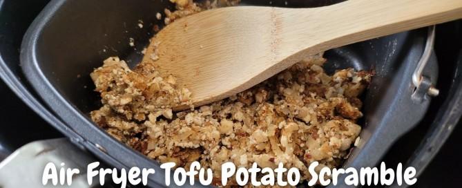 Air Fryer Tofu Potato Scramble