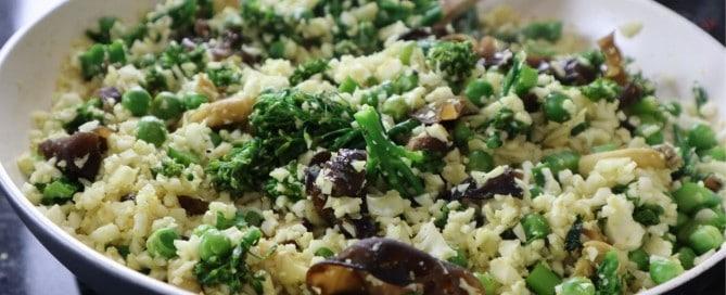 Curried Cauliflower Rice Fried Rice