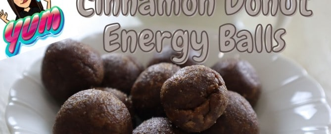 cinnamon donut energy balls - vegan no date recipe