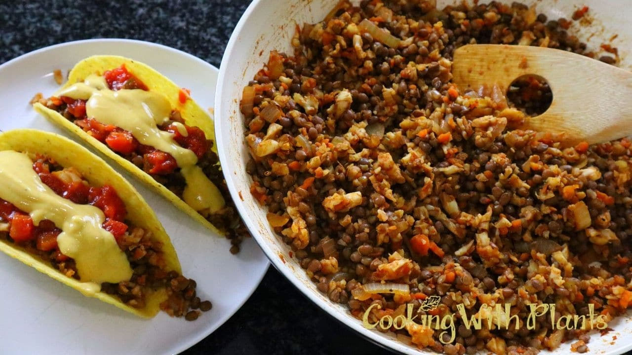Mexican Cauliflower Rice Taco Filling - Vegan Keto