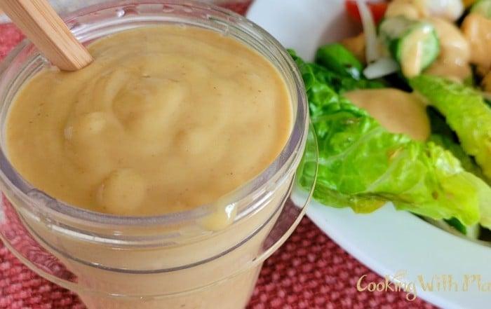 Creamy vegan mango dressing