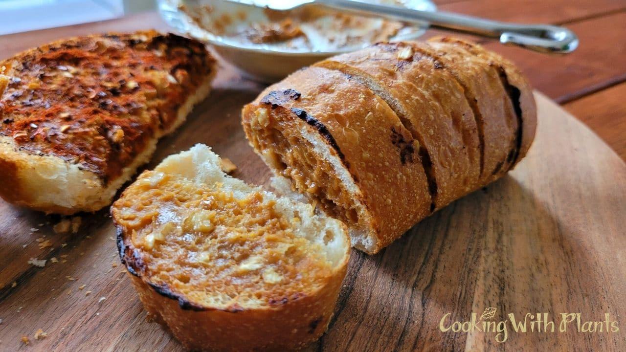 Vegan Oil Free Garlic Bread