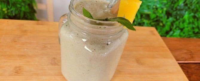 Pina Colada Vegan Protein Smoothie