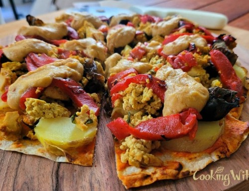 10 Minute Vegan Breakfast Pizza – Including Melted Cheese Substitute!